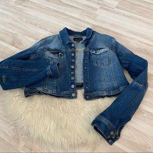 Cropped denim jacket New Look